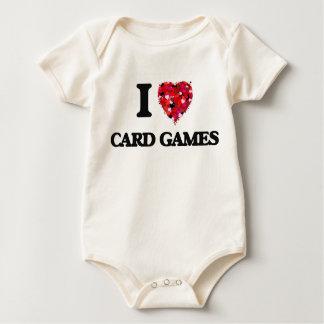 Amo juegos de tarjeta trajes de bebé