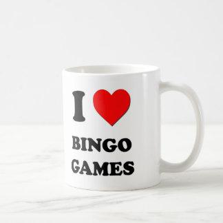 Amo juegos del bingo taza