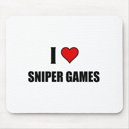 Amo juegos del francotirador tapete de ratones