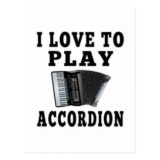 Amo jugar el acordeón postal