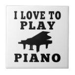 Amo jugar el piano tejas  cerámicas