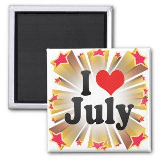 Amo julio imán de frigorífico