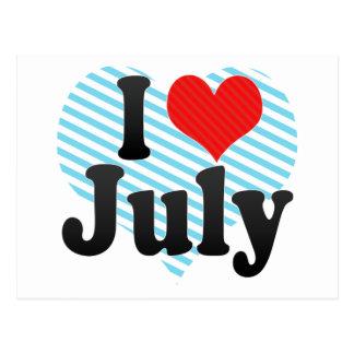 Amo julio tarjetas postales