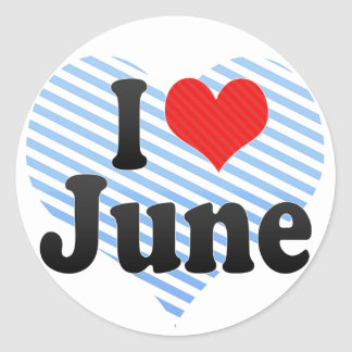 Amo junio etiquetas redondas