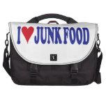Amo Junk Food Bolsas Para Portátil