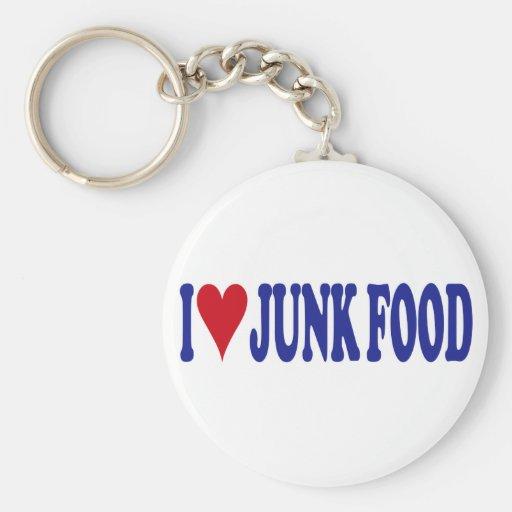 Amo Junk Food Llavero