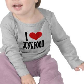 Amo Junk Food Camiseta