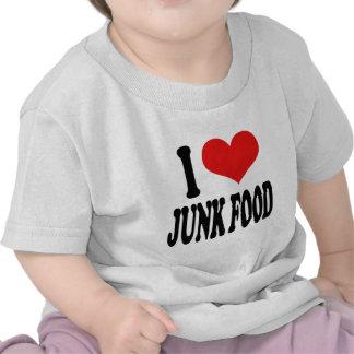 Amo Junk Food Camisetas
