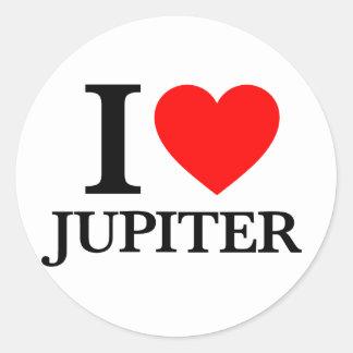 Amo Júpiter Pegatina Redonda