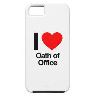 amo juramento de toma de posesión iPhone 5 carcasas