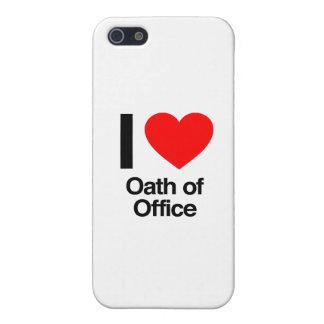amo juramento de toma de posesión iPhone 5 carcasa