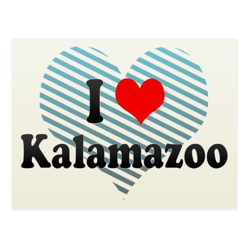 Amo Kalamazoo, Estados Unidos Tarjeta Postal