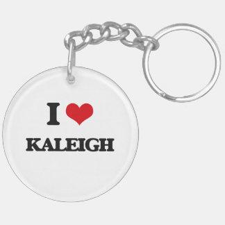 Amo Kaleigh Llavero Redondo Acrílico A Doble Cara