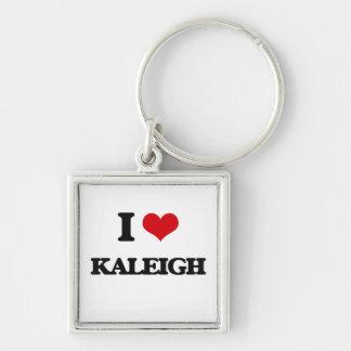 Amo Kaleigh Llavero Cuadrado Plateado