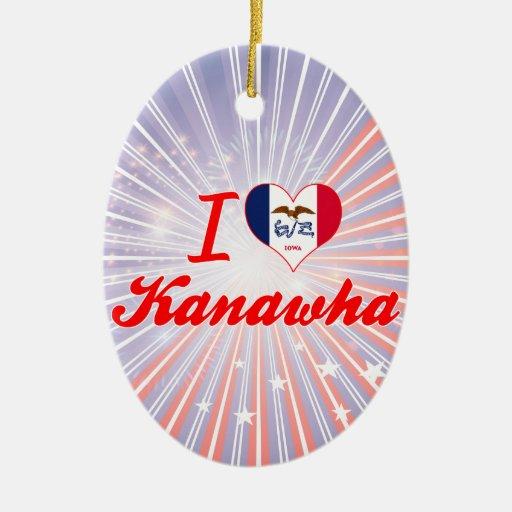 Amo Kanawha, Iowa Adorno Ovalado De Cerámica