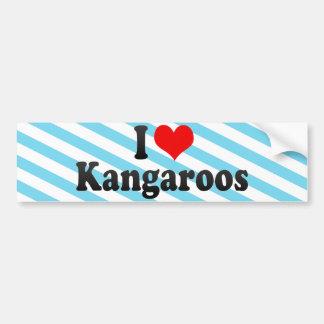 Amo KangaROOS Pegatina Para Auto