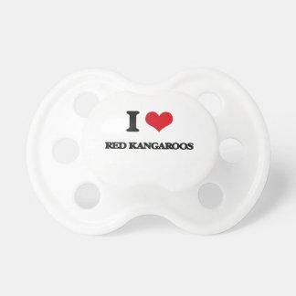Amo KangaROOS rojo Chupetes De Bebe