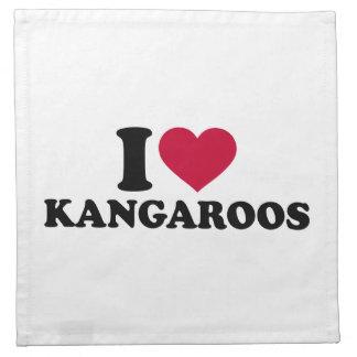 Amo KangaROOS Servilleta