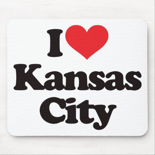 Amo Kansas City Alfombrillas De Ratones