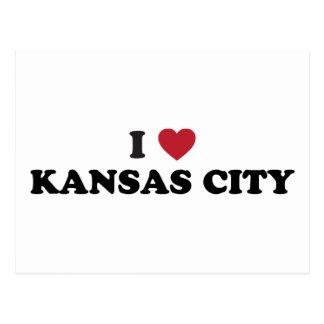 Amo Kansas City Kansas Tarjetas Postales