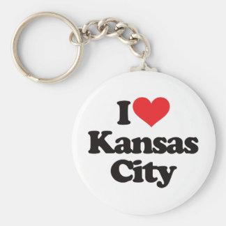 Amo Kansas City Llavero Redondo Tipo Pin