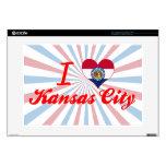 Amo Kansas City, Missouri Calcomanía Para 38,1cm Portátil