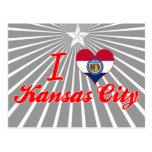 Amo Kansas City, Missouri Tarjetas Postales