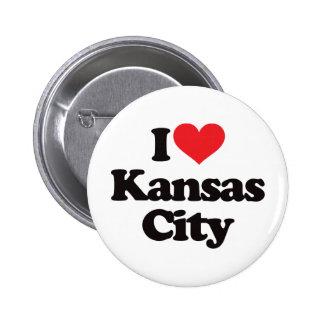 Amo Kansas City Pin Redondo De 2 Pulgadas