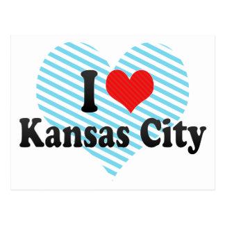 Amo Kansas City Tarjeta Postal