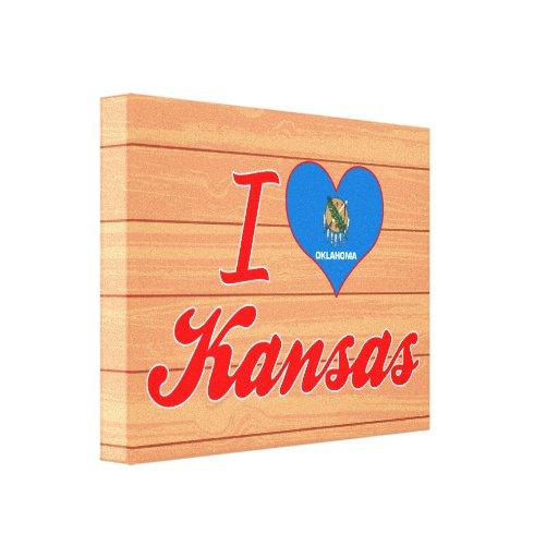 Amo Kansas, Oklahoma Impresiones De Lienzo