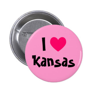 Amo Kansas Pin Redondo De 2 Pulgadas