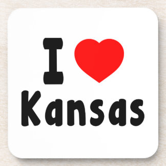 Amo Kansas Posavasos De Bebida