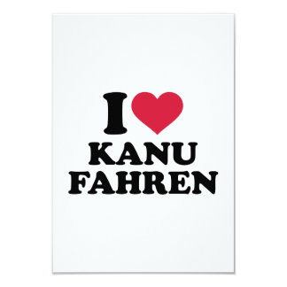 """Amo Kanu fahren Invitación 3.5"""" X 5"""""""