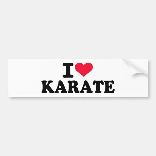 Amo karate etiqueta de parachoque
