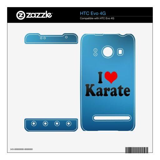 Amo karate calcomanía para HTC evo 4G