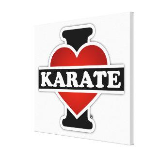 Amo karate impresión en lienzo estirada