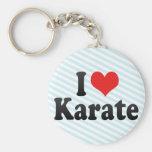 Amo karate llavero personalizado