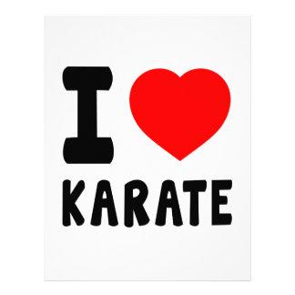 Amo karate membrete