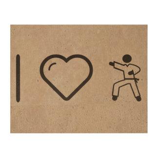 Amo karate papel de corcho para fotos