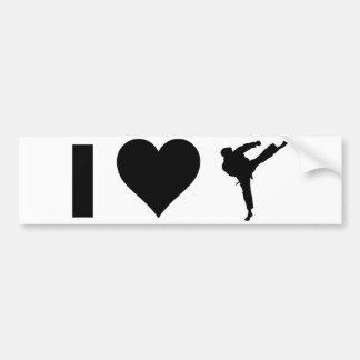 Amo karate pegatina para auto