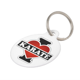 Amo karate placas de mascota