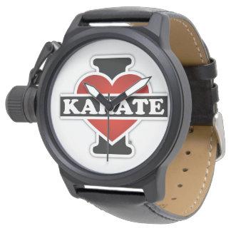 Amo karate reloj de mano
