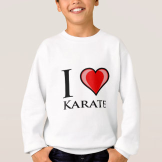 Amo karate sudadera