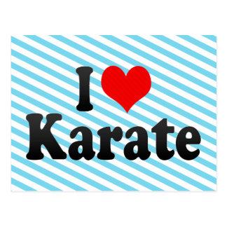 Amo karate tarjetas postales