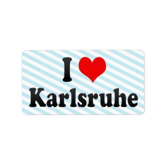 Amo Karlsruhe, Alemania Etiquetas De Dirección