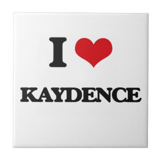 Amo Kaydence Azulejo Cuadrado Pequeño