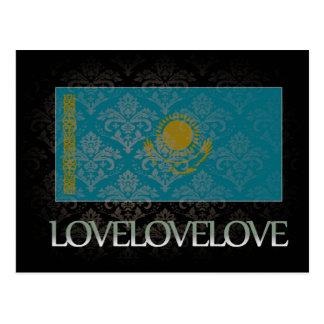 Amo Kazajistán fresco Tarjetas Postales