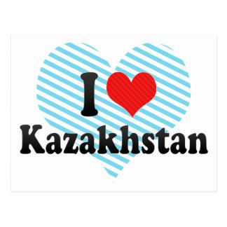 Amo Kazajistán Tarjeta Postal