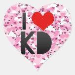 Amo KD Pegatina De Corazón