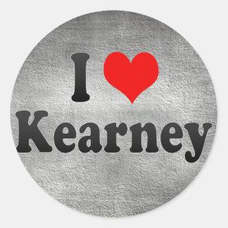 Amo Kearney, Estados Unidos Pegatina Redonda